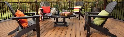 alternative deck railing lighting and furniture trex