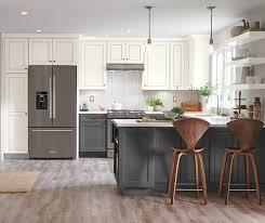white kitchen cabinets with gray glaze macaulay painted white with grey glaze moonstone