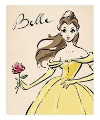 Disney Princess Home Decor by Disney Princess Belle Vintage Fashionista Wrapped Canvas Wrapped