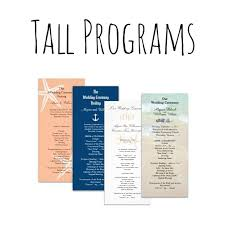 affordable wedding programs themed wedding program templates