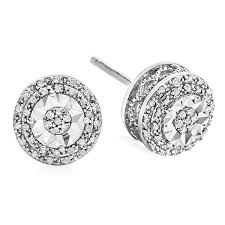 stud diamond earrings limited time special 1 10 ct t w halo diamond stud