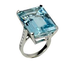 aquamarine diamond ring rings aquamarine and diamond ring c 2000