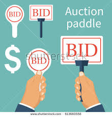 auto bid auction auction car hammer judge car isolated stock vector 613660262