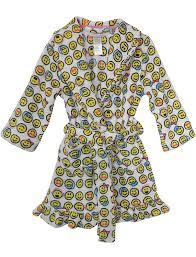 emoji robe amazon com emojicon emoji girls emoji nation hooded robe pajamas
