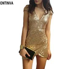 gold party dress aliexpress buy sequin dress women party dresses black