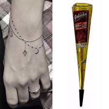 aliexpress com buy 1pcs black henna cone mehendi kit body