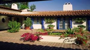 spanish style house courtyard youtube