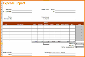 Excel Expense Report Template 8 Expense Report Template Excel Resume Reference