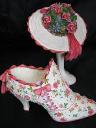 willow floral dressing table ornaments hat