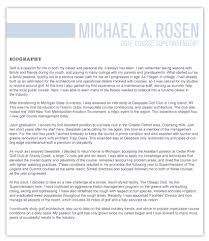 Superintendent Resume Michael A Rosen Golf Course Superintendent