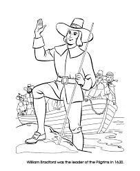 thanksgiving coloring pages pilgrim leader william bradford