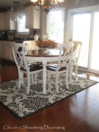 rug under dining table size kitchen blower what size rug under dining room table in of area