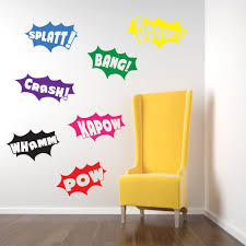 vinyl concept batman wall stickers decals pow bang crash batman pow bang wall stickers kids nursery play room home art decoration children s decals removable handmade school bedrooms bright