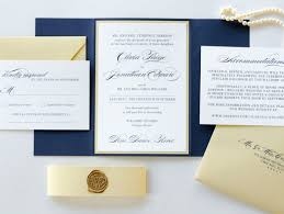 wedding invitations chicago navy blue gold shimmer and ivory wedding invitation with gold