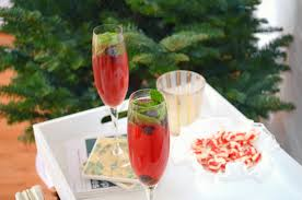 holiday champagne cocktails holiday minty blueberry cocktails the balanced blonde