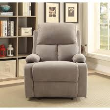 Marilyn Monroe Furniture by Acme Furniture Rosia Recliner In Gray 59549 The Home Depot