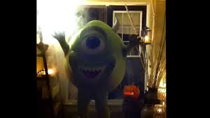 mike wazowski this is my monsters inc costume happy halloween