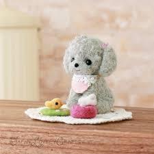 japanese needle wool felt diy kit kawaii poodle