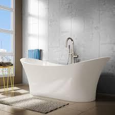 Freestanding Bath Tub A U0026e Bath And Shower Evita 69 Inch Resin Oval Freestanding Bathtub