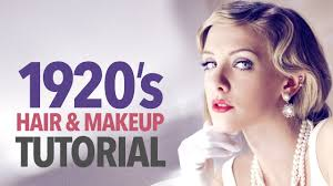 hair styles for late 20 s 1920s makeup hair tutorial youtube