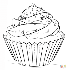 cupcake coloring page free printable coloring pages