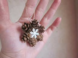 mini pine cone wreath ornaments gift topper tree