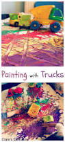 painting with trucks messy play play ideas and mark making