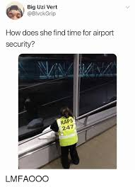 Big Girl Meme - big uzi vert how does she find time for airport security raps 247