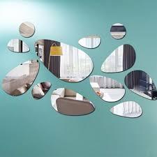 Home Decoration Online Shop Online Shop Creative Pebbles Mirror Sofa Background Art Wall