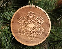 wooden snowflake ornaments christmas from tri elegance