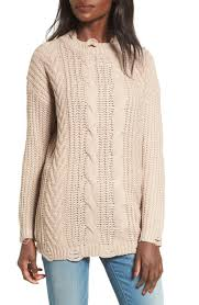cable sweater dreamers by debut distressed cable knit sweater nordstrom