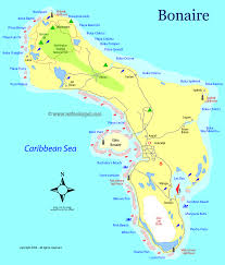 Caribbean Maps by Caribbean Bonaire Map