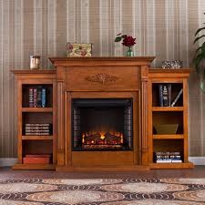 Oak Electric Fireplace Tall Electric Fireplace Bellacor
