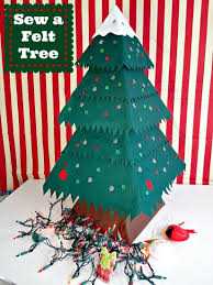 how to make and sew a fab felt tree