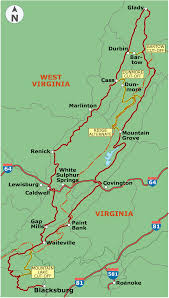 John Wayne Pioneer Trail Map Allegheny Mountains Loop Adventure Cycling Route Network