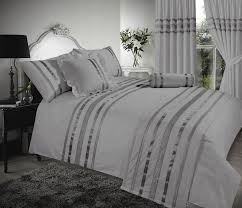 grey u0026 silver stylish sequin duvet cover luxury beautiful glamour