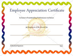 employee appreciation certificate template 7 recognition