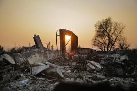 California Wildfires San Diego by A Family Forced Out Of Their Homes By The Northern California