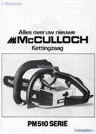 tools mcculloch promac 510 preview manual for free page 1