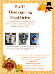 thanksgiving food drive sadi