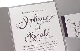 printed wedding invitations violet letterpress printed wedding invitations dinglewood design