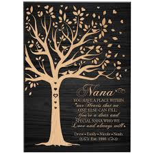 personalized gift for nana mothers day gifts custom wall plaque