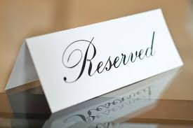 reserved signs for wedding tables 5 x 7 printed reserved signs wedding reception ceremony party