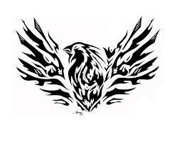 phoenix tribal tattoo commish by jmoona on deviantart