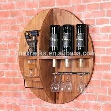Wall Mounted Bar Table Wine Rack Round Wine Rack Table Rustic Round Bar Table Set With