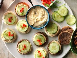 what does canape cucumber canapes recipe taste of home