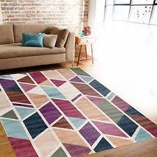 Modern Design Area Rugs Modern Geometric Design Multi Color Soft Indoor Area Rug 7 10 X