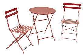 Kitchen Folding Table And Chairs - amazon com cosco 3 piece folding bistro style patio table and