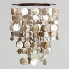 Capiz Vase Lighting Awesome Capiz Chandelier For Home Interior Lighting