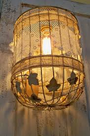 Birdcage Chandelier Shabby Chic 102 Best Lace Lampshades Images On Pinterest Lampshades Shabby